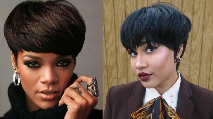 Rihanna Inspired Mushroom Cut Hairstyle