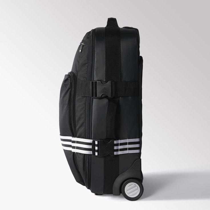 adidas - Maleta con ruedas tamaño cabina 3 franjas