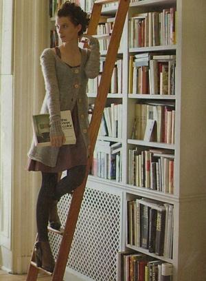 Integrated into bookshelf