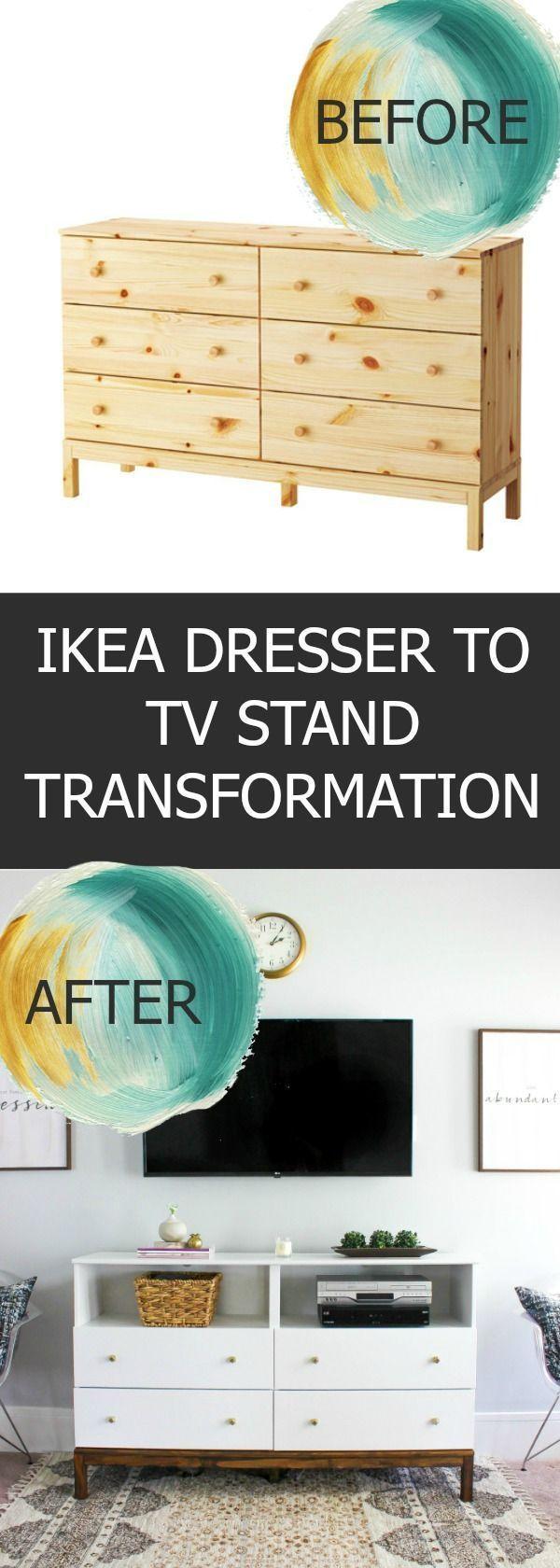 IKEA Kommode für TV Stand Transformation
