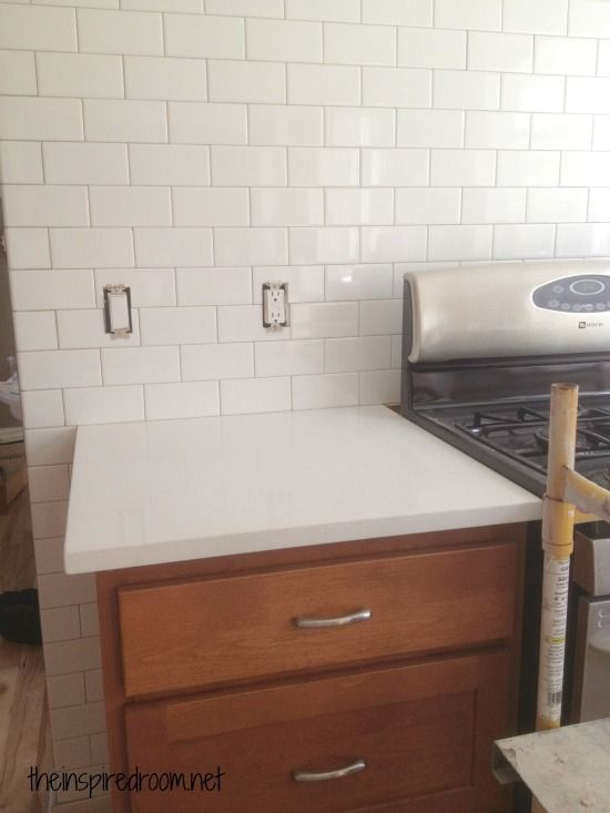 Kitchen Progress:: {Subway Tile and Counters