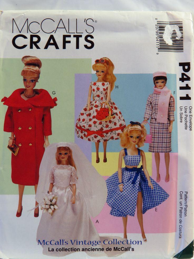 290 besten Barbie Patterns - McCall\'s Bilder auf Pinterest | Barbie ...