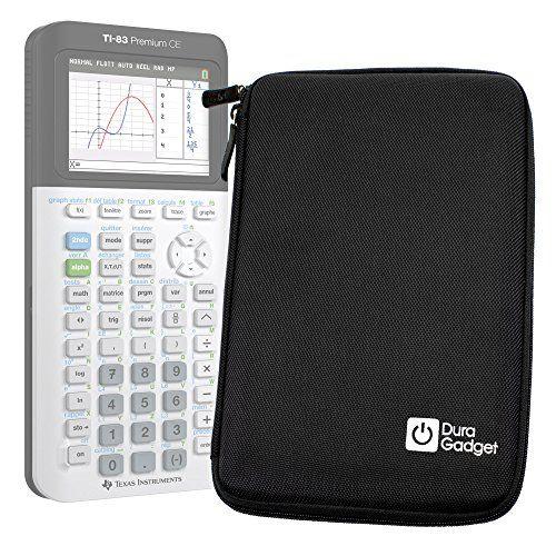 Coque de rangement noire rigide pour Texas Instruments TI-83 Premium, TI 82 Advanced et TI-NSPIRE CX calculatrices scientifiques –…