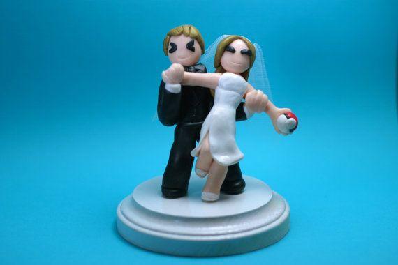 Pokemon Young Couple Wedding Cake Toppers Custom by Rinyrinri