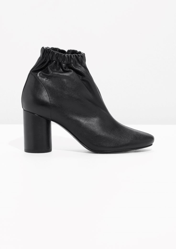 Elastic Ankle Boot with round heel