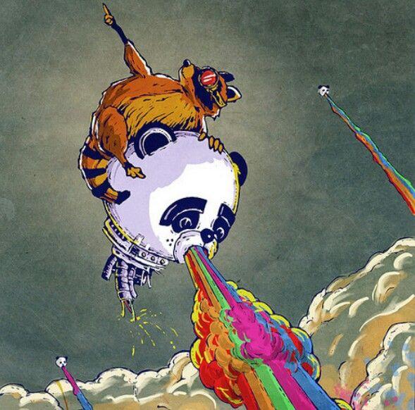 Mapache y Panda, propulsados al color