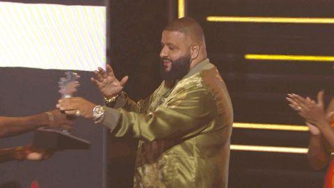 New party member! Tags: bet dj khaled hip hop awards 2016 chest bump