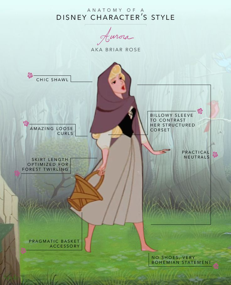 Aurora is one of the few Disney Princesses who has a dressed-down look, and we truly love it.