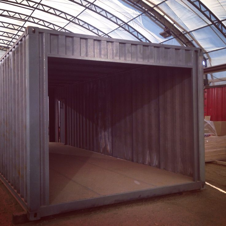 Custom Shipping Container Car Garage: 12'wide Shipping Containers Manufactured In Our Head
