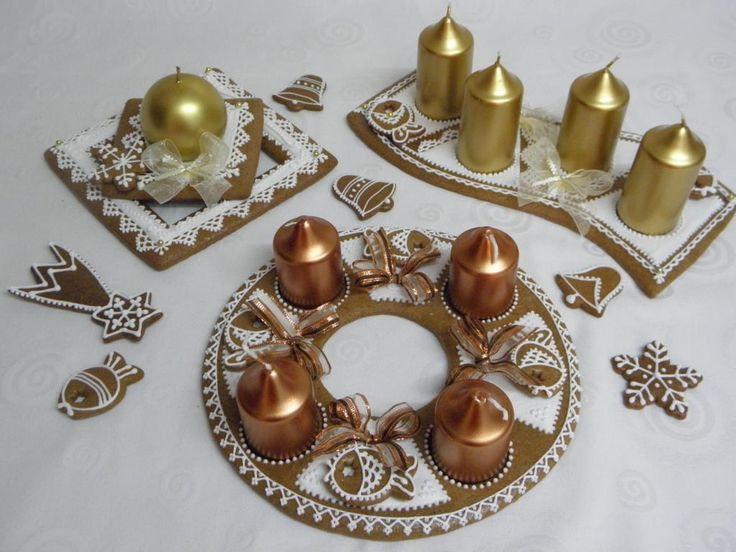 Adventní svícny zlaté