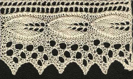 Apple Leaf Lace #knitting #patterns #edgings