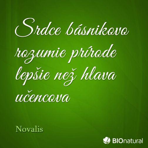Citát o prírode od Novalisa