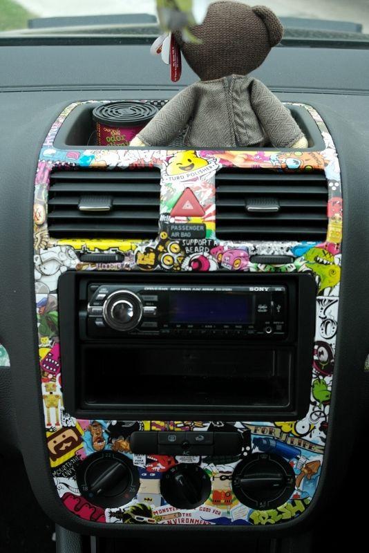 Mk5 golf sticker bombed trim - VW GTI Forum / VW Rabbit Forum / VW R32 Forum / VW Golf Forum - Golfmkv.com
