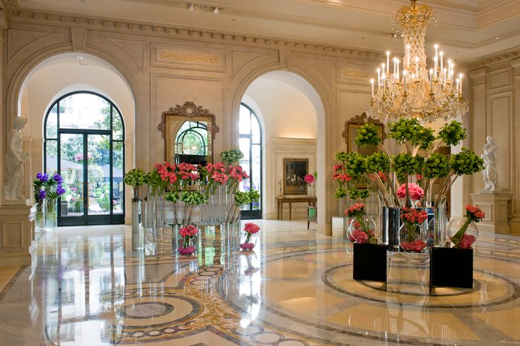 The Lobby- Four Seasons Hotel George V, Paris. Exclusive design. Luxurious lobby. Luxury hotels. European hotels. Most beautiful hotels. For more inspirational ideas take a look at: www.bocadolobo.com