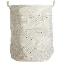 House Doctor Laundry Basket in Fabric - Triangular