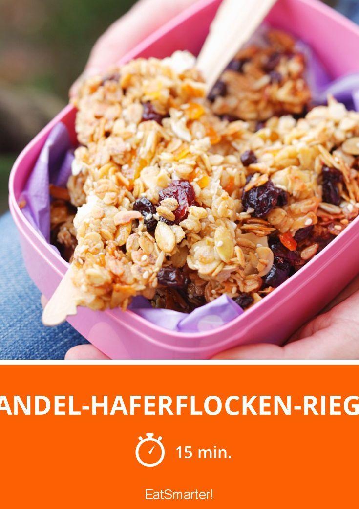 Mandel-Haferflocken-Riegel   http://eatsmarter.de/rezepte/mandel-haferflocken-riegel