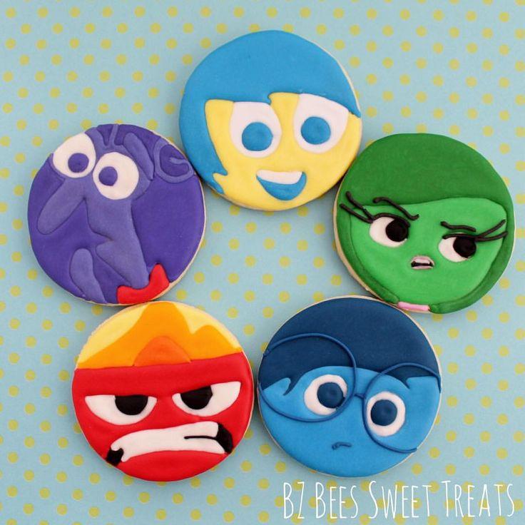 Emotion cookies for Liana's 3rd Birthday  #decoratedcookies #customcookies #cookielove #decoratedsugarcookies #nj