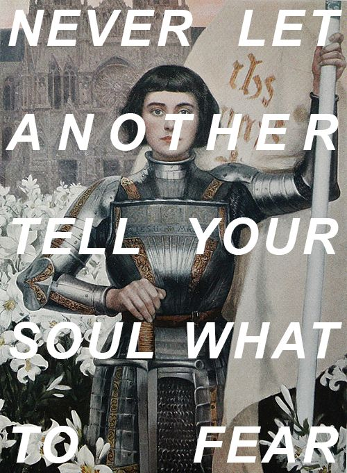 chainedtocomets:  Joan of Arcby Albert Lynch // Rise Above It by Switchfoot