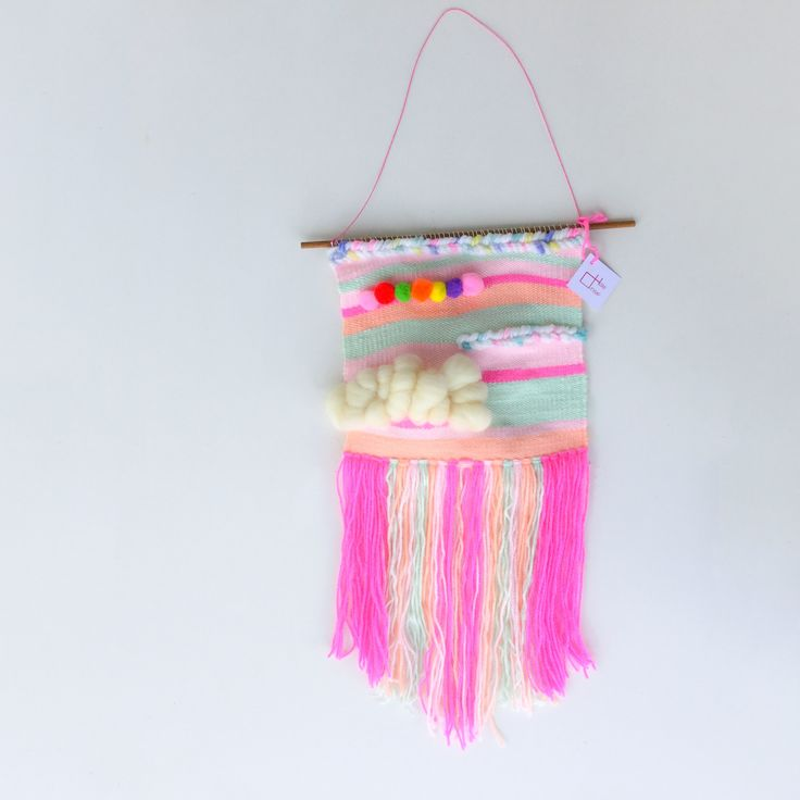 Custom order colorful weaving wall hanging is now available to shop at AlfaHandmade.etsy.com