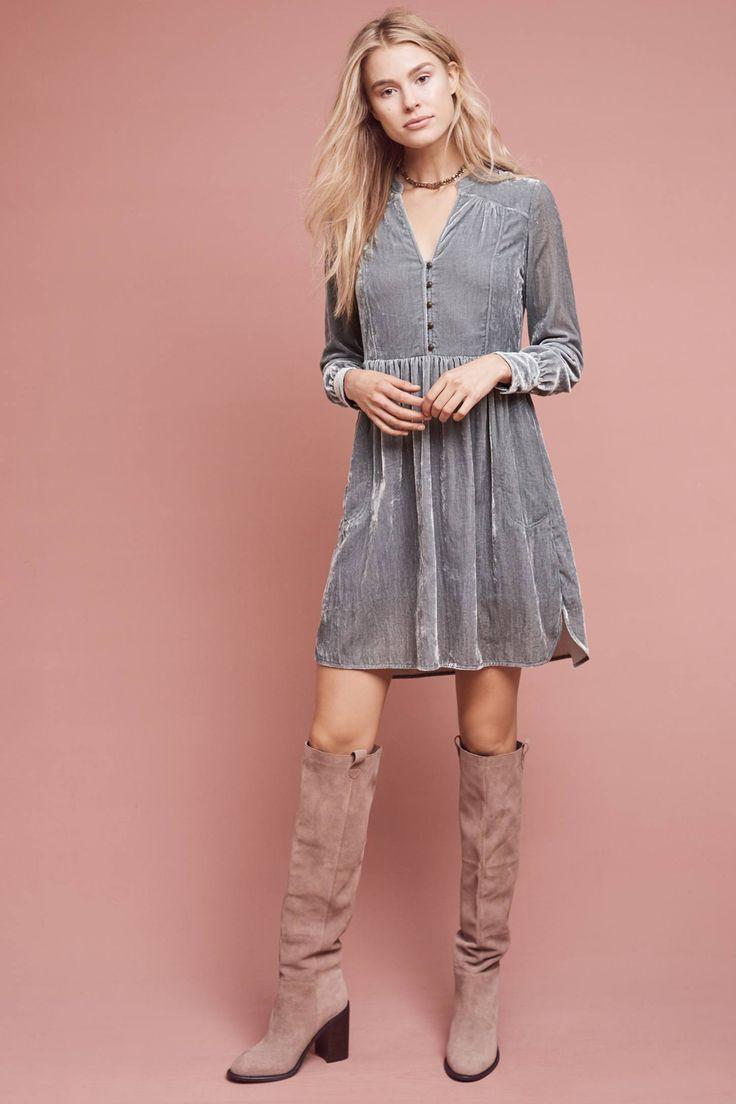 Velvet Shirtdress
