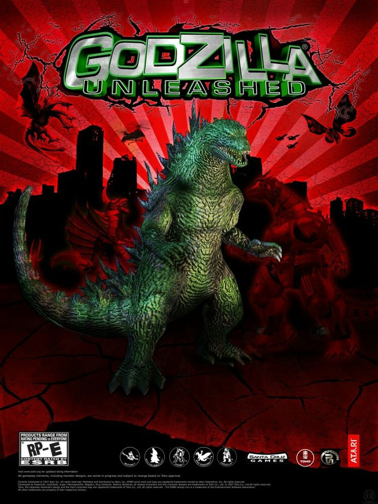 GODZILLA: UNLEASHED Wii/Ps2 Fighting Godzilla Video Game 2007.