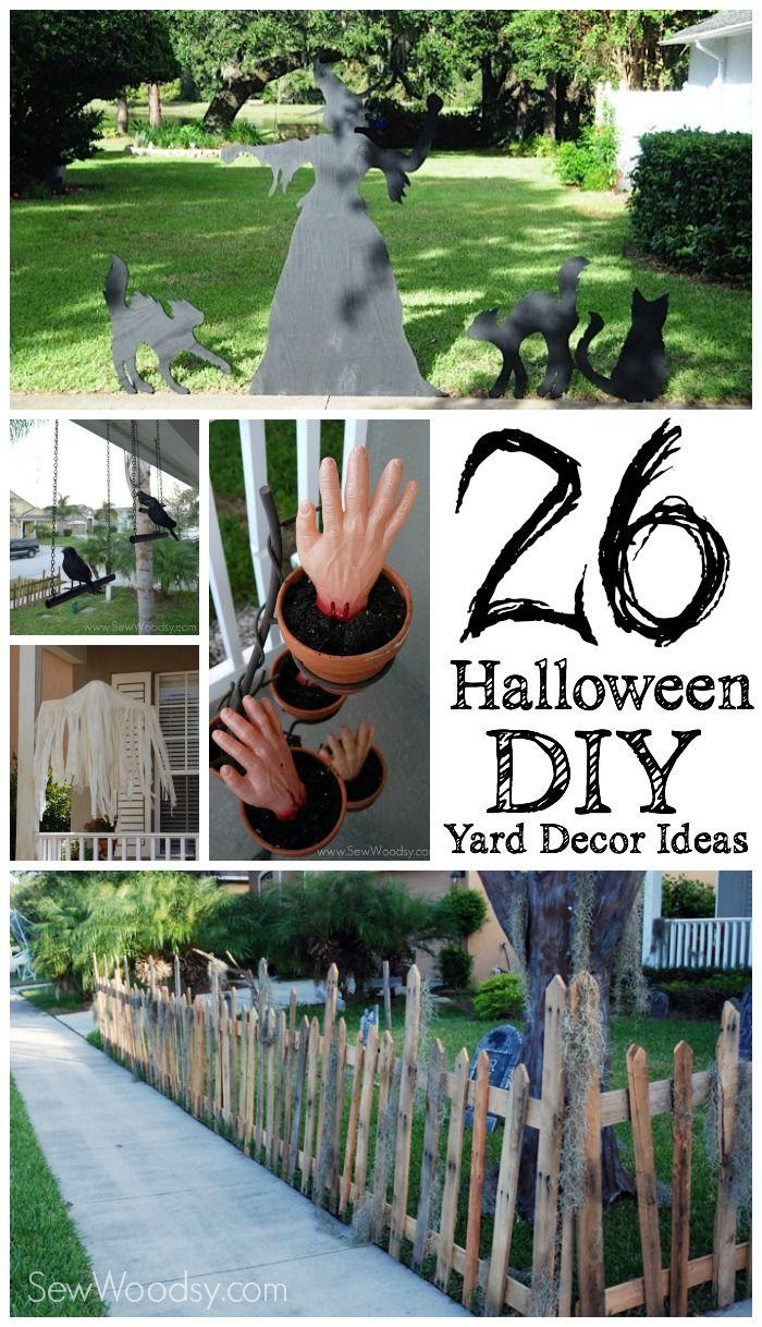 Easy diy halloween yard decorations - 26 Halloween Diy Yard Decor Ideas Sew Woodsy