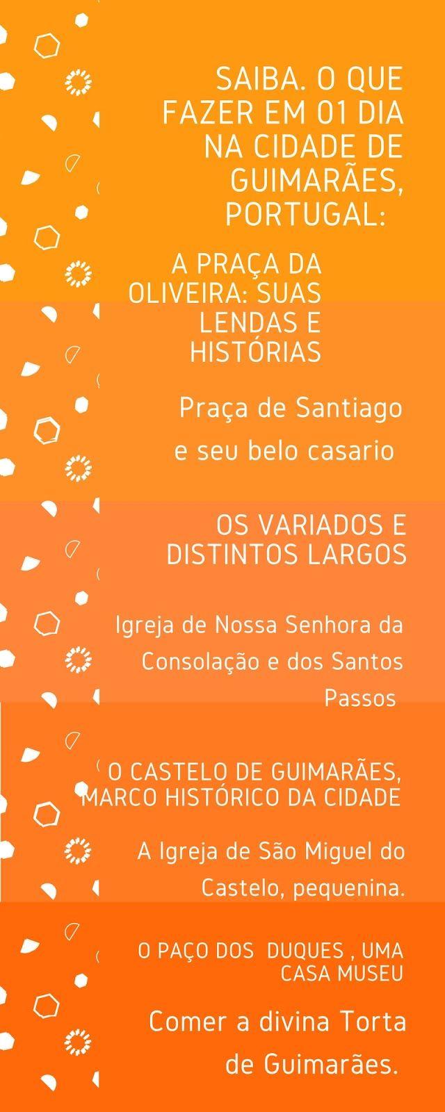 Algumas sugestões do que ver e fazer na cidade de Guimarães, onde nasceu a grande nação portuguesa