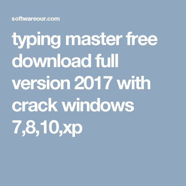 typing master full version for windows 7