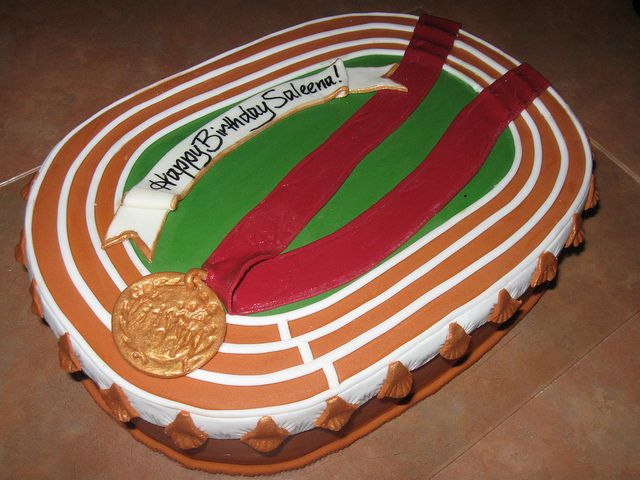Running track cake | Flickr - Photo Sharing!