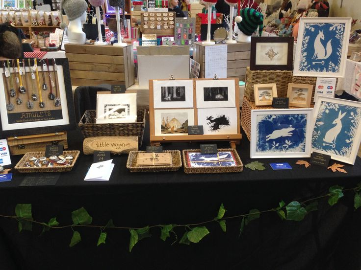 My table at the Dorset Team Etsy Fair, December 2016