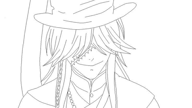 Black Butler Undertaker Coloring Pages Butlerkuroshitsuji And