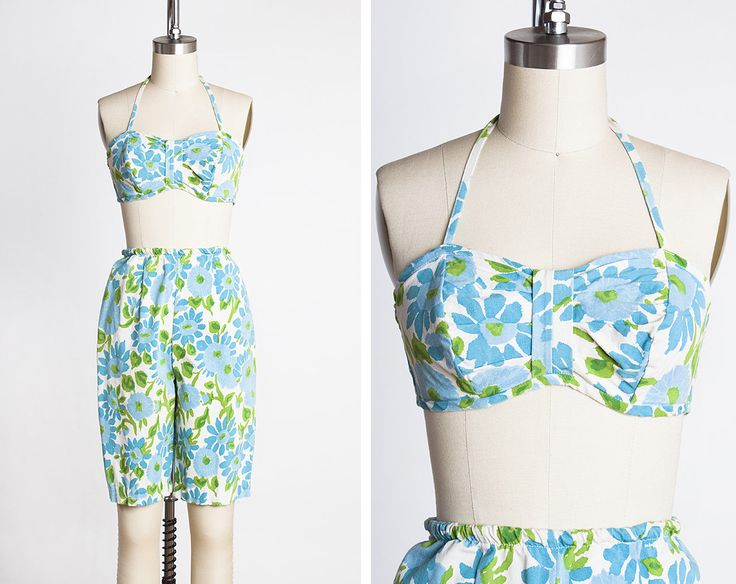 FUN and FLIRTY 1950s JANTZEN Cotton Floral Bikini Top & Shorts Summer Set // Resort Wear // Mid-Century // Pin-Up by BygonesVintageRVA on Etsy https://www.etsy.com/ca/listing/517404414/fun-and-flirty-1950s-jantzen-cotton