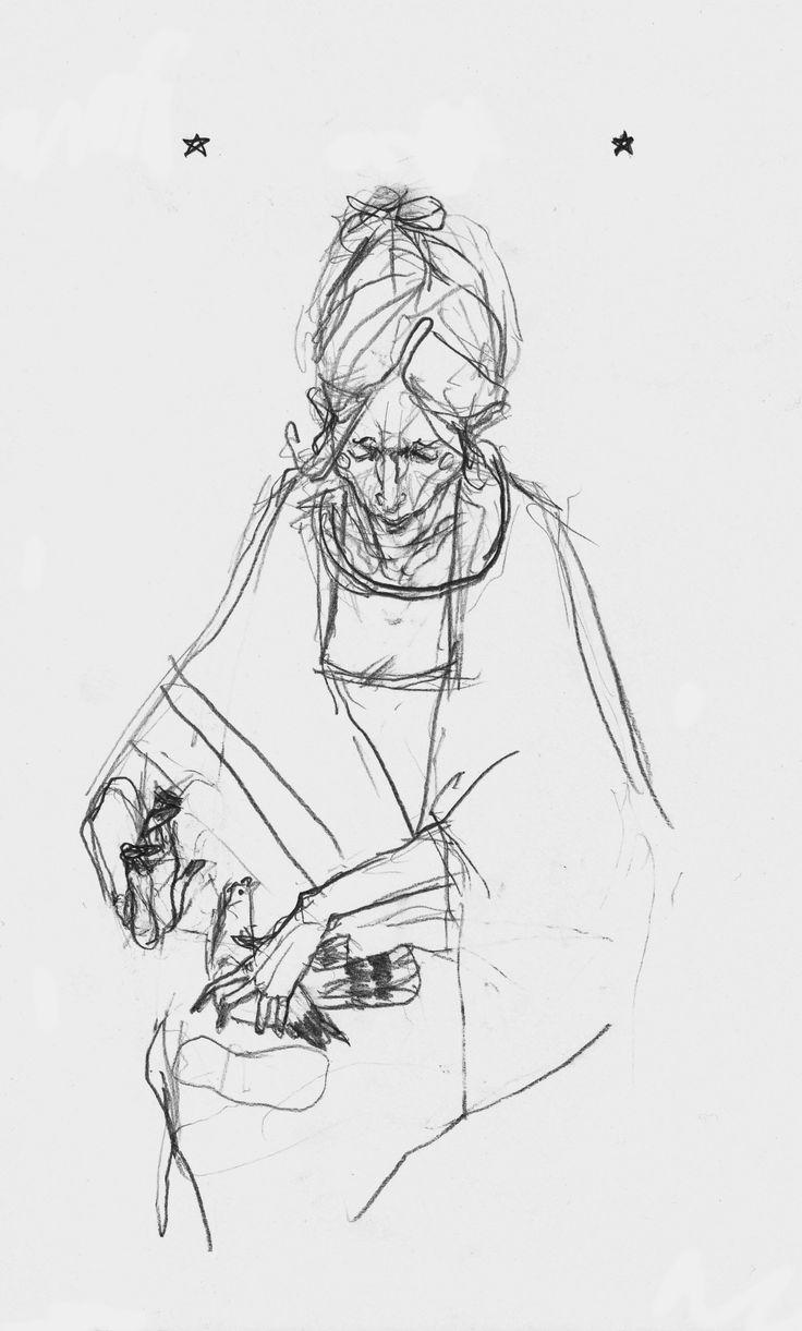 dama z gołębiem by Kuba Bednarz