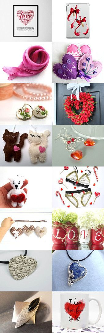 Happy Valentines Day! by Évi Csizmadia Lajosné on Etsy--Pinned with TreasuryPin.com