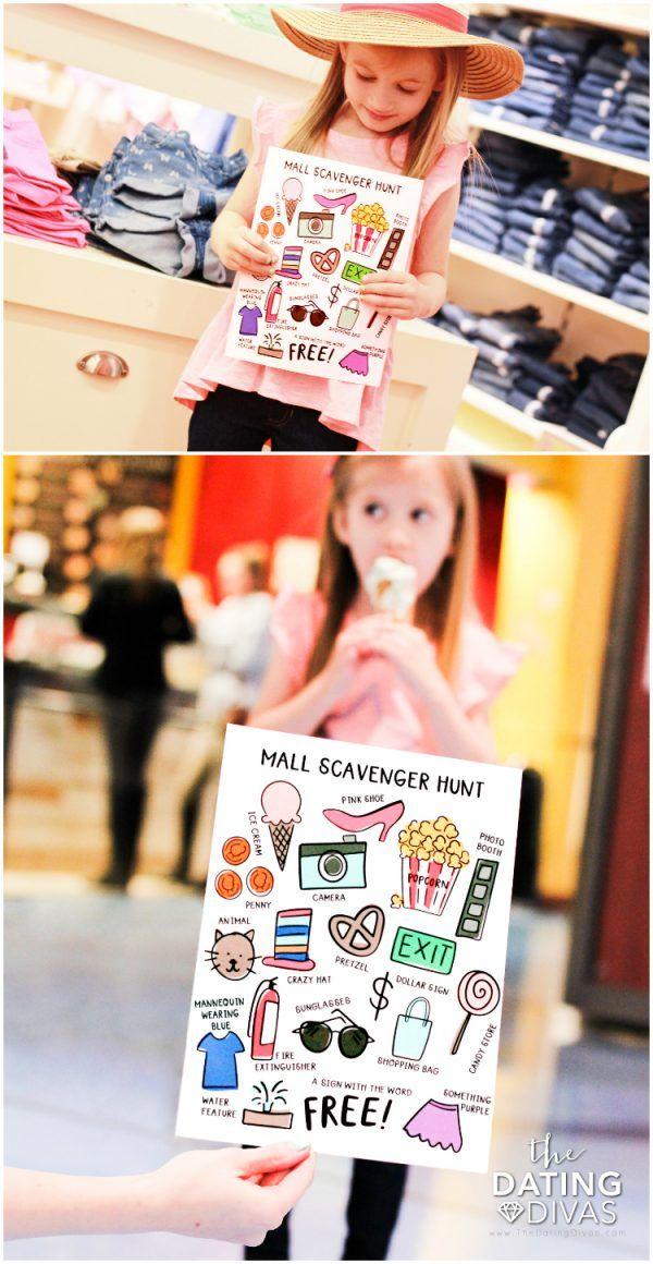 Scavenger hunt kids mall for Mall Scavenger