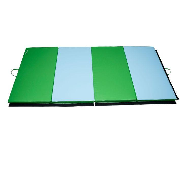 """Amazon.com : Soozier 4' X 10' X 2"""" PU Leather Gymnastics"""
