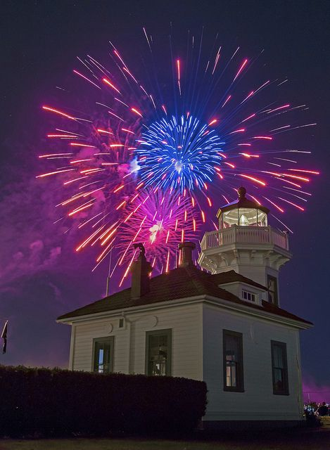 Mukilteo Lighthouse Festival Fireworks by Andy Porter Photography