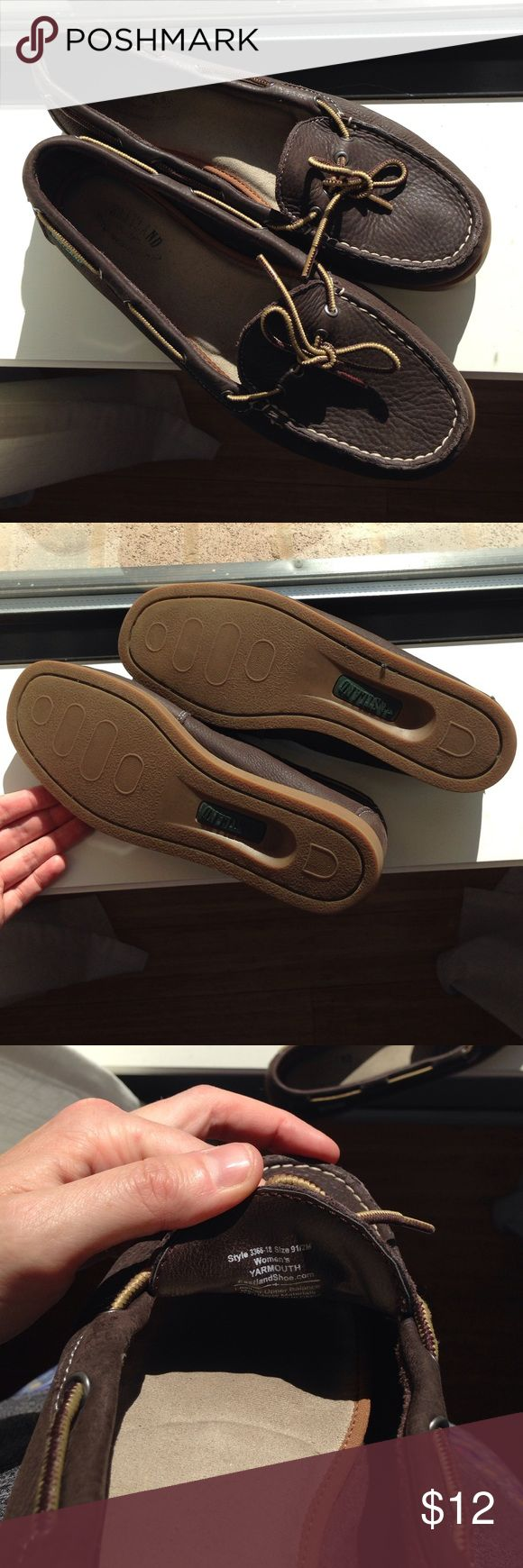 Eastland Loafers Brown Leather Loafers Size 95 Good Used