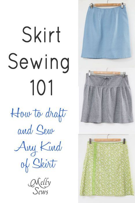 How to Sew a Skirt - how to draft a pattern for yourself and sew any kind of skirt