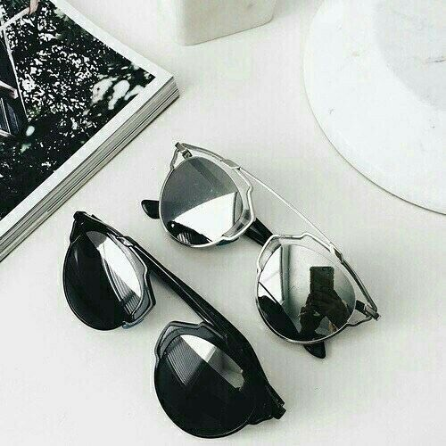 Shop our HELENA sunglasses in BLACK and SILVER |co