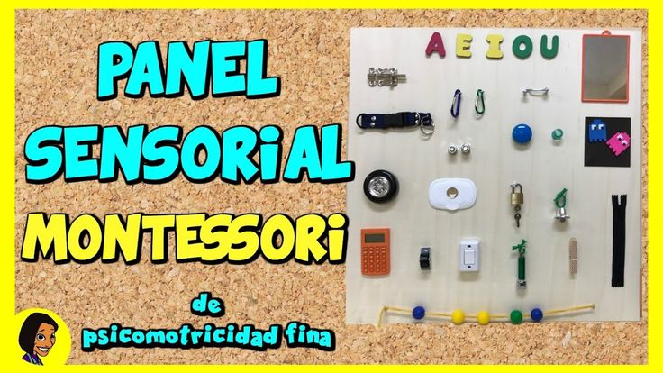 Panel Sensorial Montessori de psicomotricidad fina. Eugenia Romero. www.maestrosdeaudicionylenguaje.com