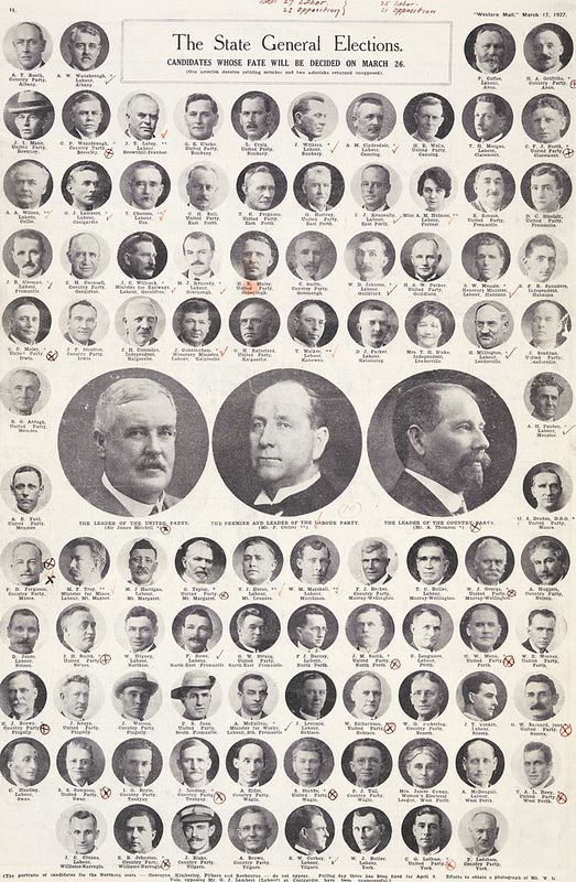 Candidates whose fate will be decided - 1927 | by statelibrarywa