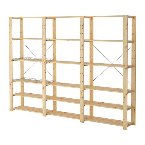 HEJNE 3 sections/shelves IKEA You can easily expand your combination if you need more storage by adding on sections and shelves.