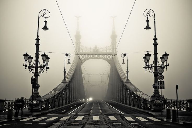 The Bridge - By Arman-hPhotos, Budapest Hungary, Favorite Places, Art, Beautiful, Black White, Will, The Bridges, Photography