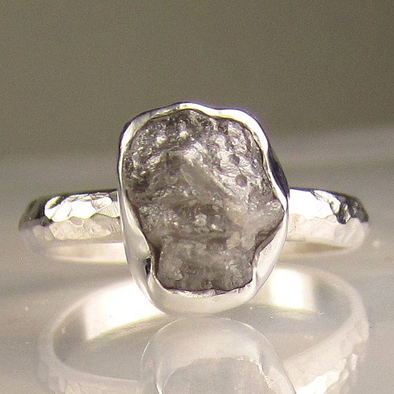 Dream engagement ring. Raw, uncut diamond. Love and marriage isn't perfect; I want my ring to represent that.