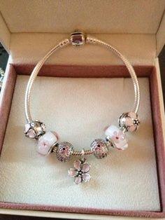 Pandora Earring Pink Murano Glass