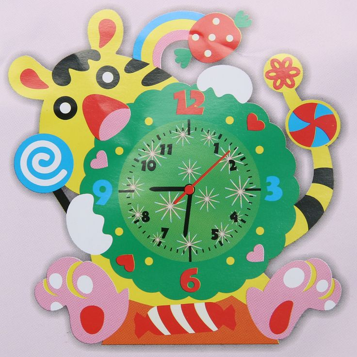 New Cute Model Building Kits Handmade DIY 3D Animal Learning Clock Kids Crafts Educational Toy