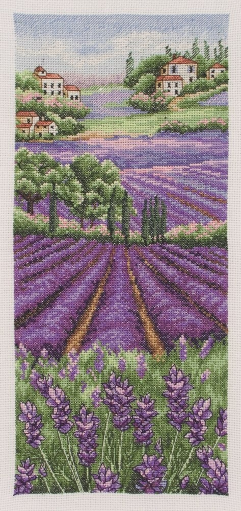 Provence Lavender Scape Anchor cross stitch kit