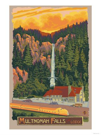 Multnomah Falls Lodge, Oregon  -- might need this if we make it there on the honeymoon!