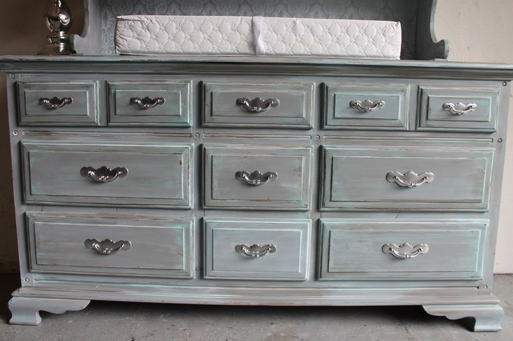 Best Weathered Vintage Teal Gray Dresser Guestroom Ideas 400 x 300
